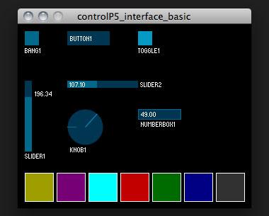 Processing ControlP5 example 1: user interface ⋆ Kasper Kamperman